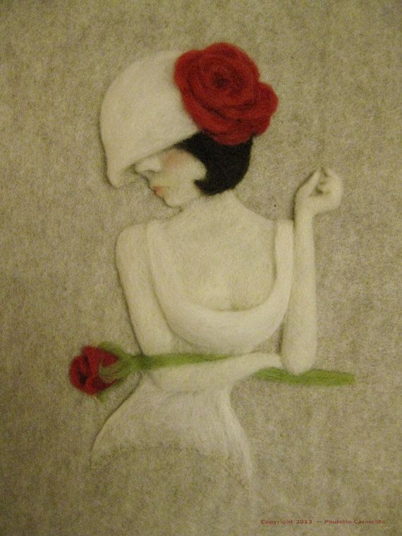 Fine Art Needled Felt Fiber Art Wall Hanging by PauletteCarmelita