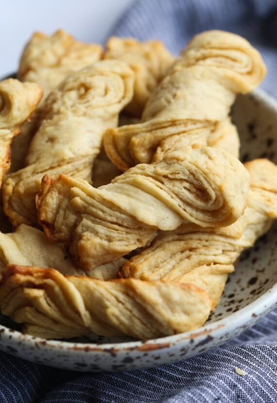 Sour Cream Twists Are A Quick And Easy Pastry Like Treat That Anyone Can Make These Twists Can Be Served With A Cup Of Sour Cream Recipes Easy Pastry Recipes