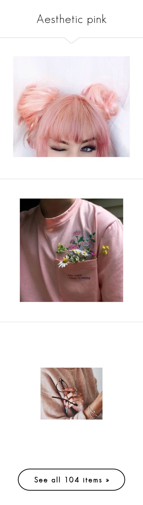 """""""Aesthetic pink"""" by still-into-malik ❤ liked on Polyvore featuring pictures, aesthetic, backgrounds, icon, pictures - pink, filler, accessories, hair accessories, pink hair accessories and image"""