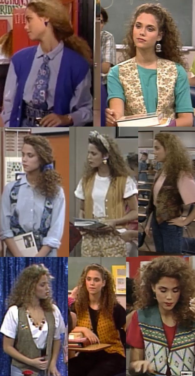 "Like REALLY into vests. | The Ultimate Guide To ""Saved By The Bell"" Fashion"