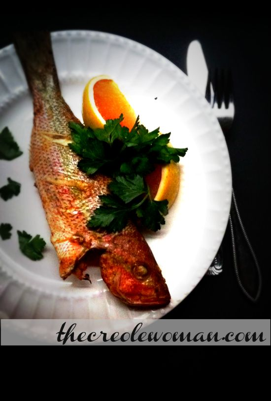 Baked Whole Yellowtail Snapper | thecreolewoman.com
