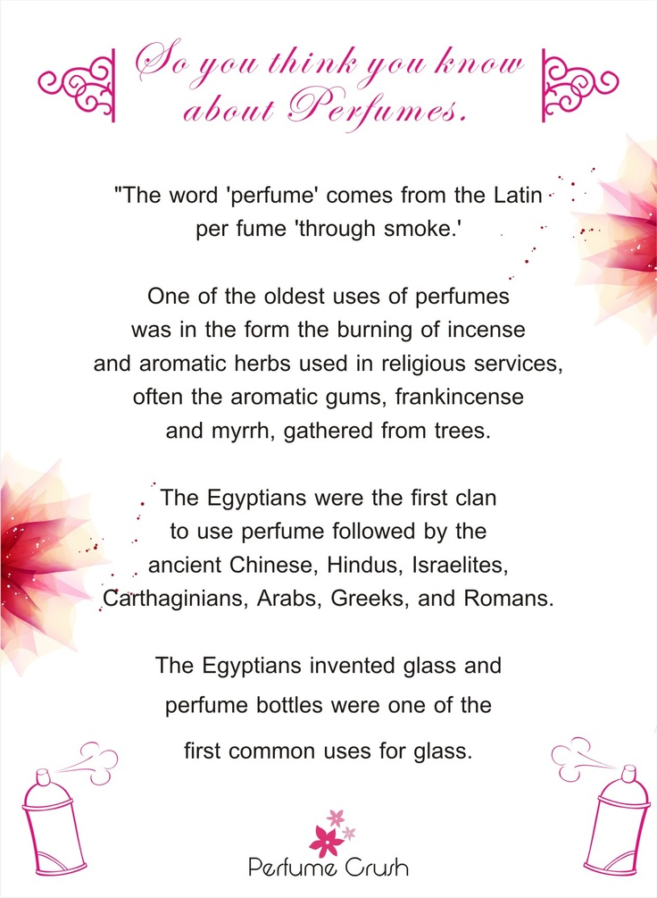 Know more about Perfumes