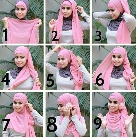 2 Macam Tutorial Hijab Pashmina Simple Untuk Pesta