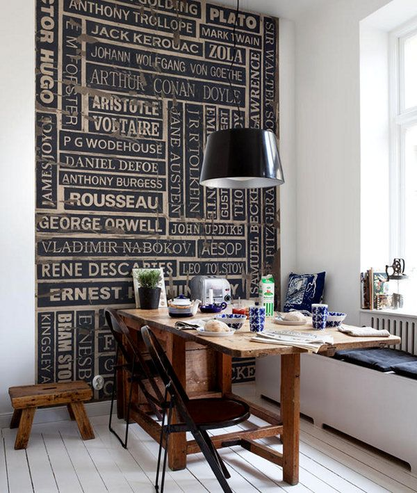 .: Wall Art, Wall Decor, Walldecor, Breakfast Nooks, Features Wall, Offices, Kitchens Tables, Hallways Ideas, Wallpapers Decor