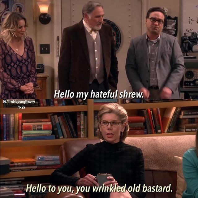 Sheldon: Ok, now I'm starting to sense a little tension.