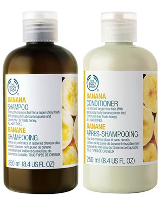 Rachel All In Black: Beauty // The Body Shop Banana Shampoo + Conditioner review