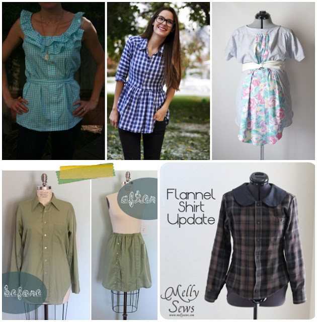 Feathers Flights {a creative, sewing blog}: 11 Mens Button-Up Shirt Refashion Tutorials