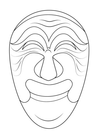 Korean Mask of Yangban Coloring page