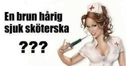 Brun hårig sjuk sköterska