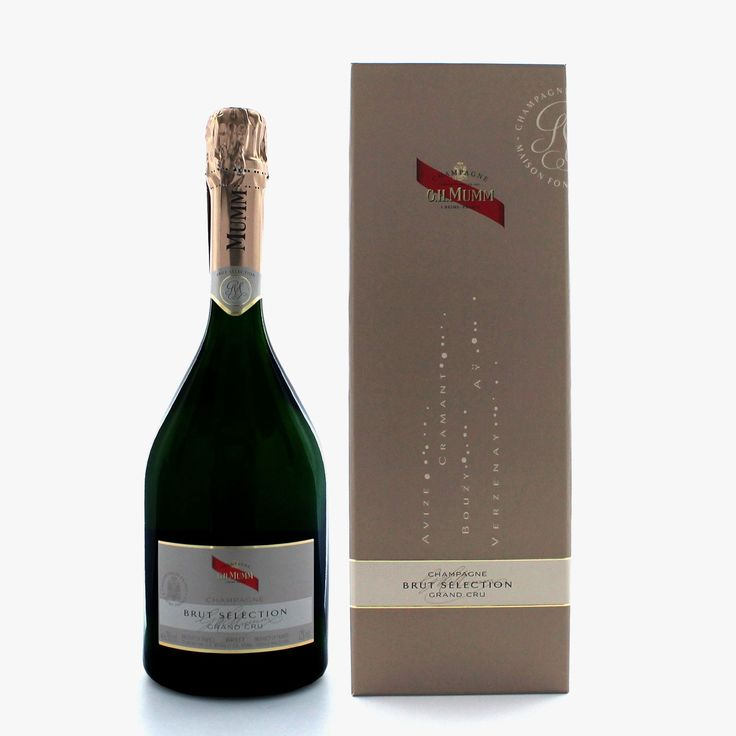 Champagne Mumm Brut Sélection - Mumm - Marques - Accueil -- Love packaging, love the shape of the bottle