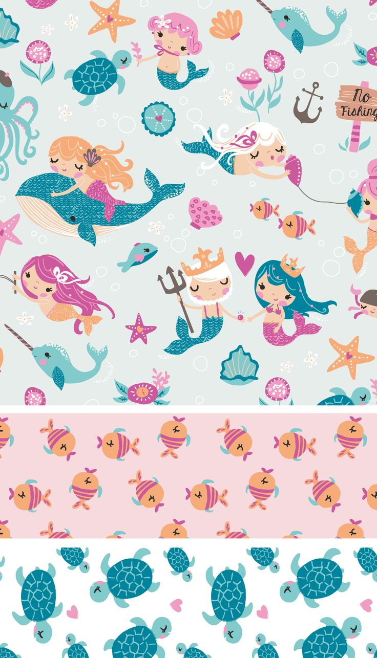 Inga Wilmink for Jo-Ann Stores - Mermaid fabric