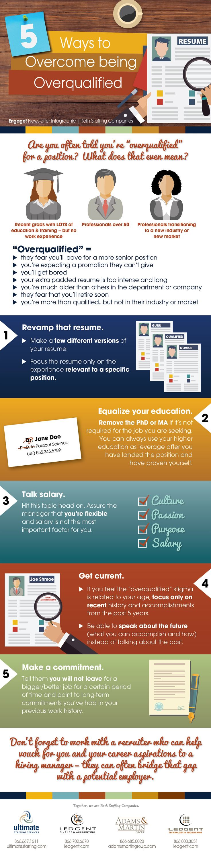 INFOGRAPHIC 5 Ways to Overcome being Overqualified