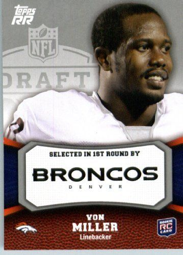 2011 Topps Rising Rookies Football Card # 200 Von Miller RC - Denver Broncos (RC - Rookie Card) NFL Trading Card Protective Screwdown Display Case by Topps. $0.99. 2011 Topps Rising Rookies Football Card # 200 Von Miller RC - Denver Broncos (RC - Rookie Card) NFL Trading Card Protective Screwdown Display Case