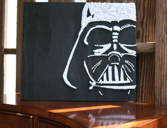 Darth vader star wars string art star wars fan art for Star wars arts and crafts