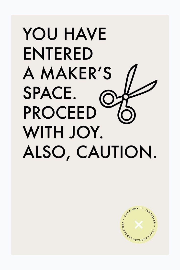 Maker's Space print via iamthelab.com