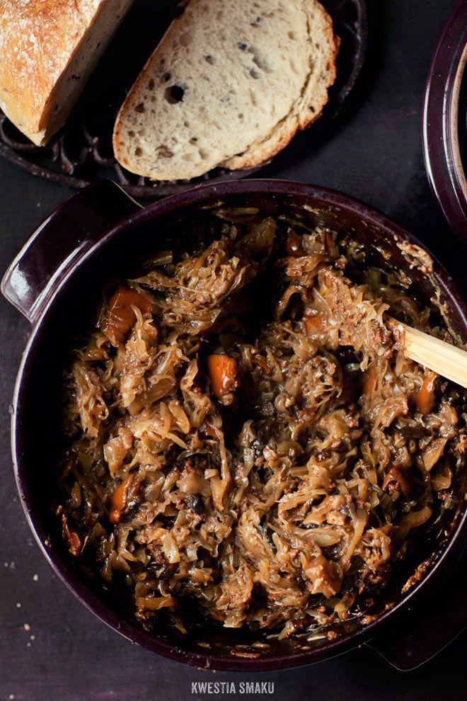 Bigos pieczony  z mielonym mięsem i grzybami