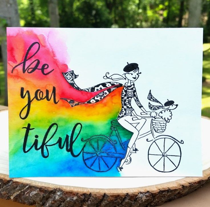 Be You tiful Rainbow Card - Scrapbook.com