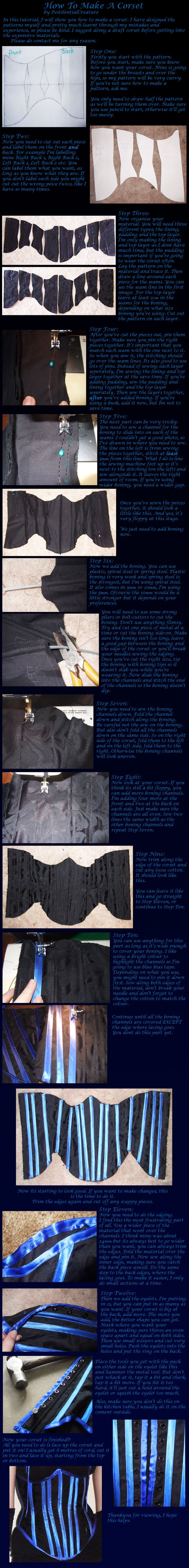 Corset Tutorial. by PestilentialCreature.deviantart.com on @deviantART#how-to #sewing #fashiondesign