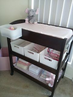 Change Table Storage Baskets ...I need to get some baskets for our changing table then I'm set!!