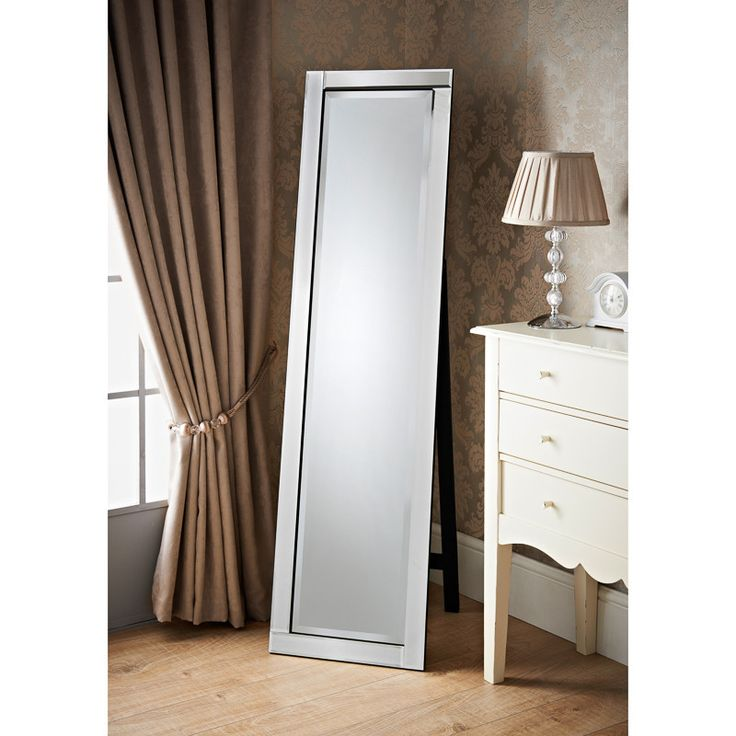 Grace Cheval Mirror - All glass beveled standing cheval mirror - beautiful home decor accessories at B&M