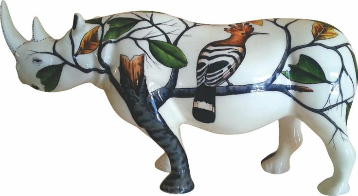 My African Hoopoe Rhino - Limited edition 1/100 painted and beautifully presented. - ZAR3195.00