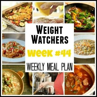 Weekly Meal Plan for 8-31-15 with WW PointsPlus