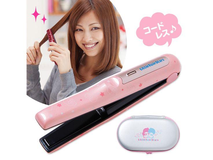 Little Twin Stars Kiki Lala Cordless Flat Iron Rechargeable  Hair Straightener Heart SANRIO JAPAN
