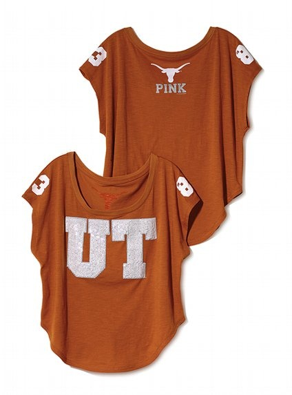 Victoria's Secret PINK University of Texas Drapey Bling Tee #VictoriasSecret http://www.victoriassecret.com/pink/university-of-texas/university-of-texas-drapey-bling-tee-victorias-secret-pink?ProductID=69561=OLS?cm_mmc=pinterest-_-product-_-x-_-x