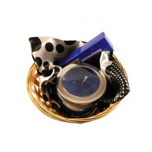 Cos cadou Bubble blue - http://livediva.ro/cadouri-online/Secret-Santa-cadouri-pentru-colegi
