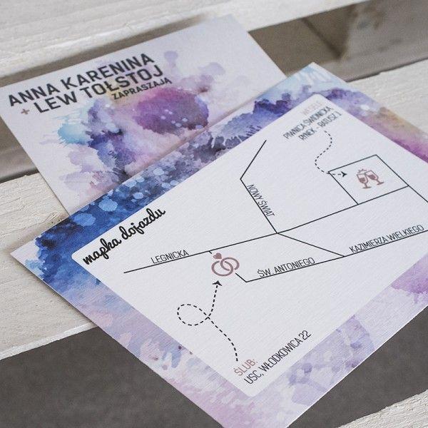 wedding invitations with a map  http://paperstory.pl/pelna-oferta/38-zaproszenie-z-mapka-akwarelove.html
