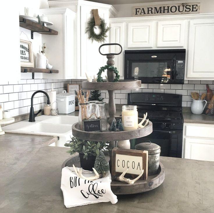 Farmhouse tier tray