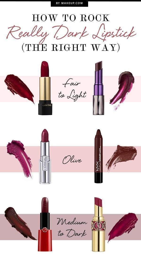 We love to wear bright pink lipstick during the springtime as much as the next girl, but sometimes you just need to wear a dark lipstick. If you're not sure how to pull off deep lipstick colors, our guide will help you pick the best dark lipsticks for your skin tone.
