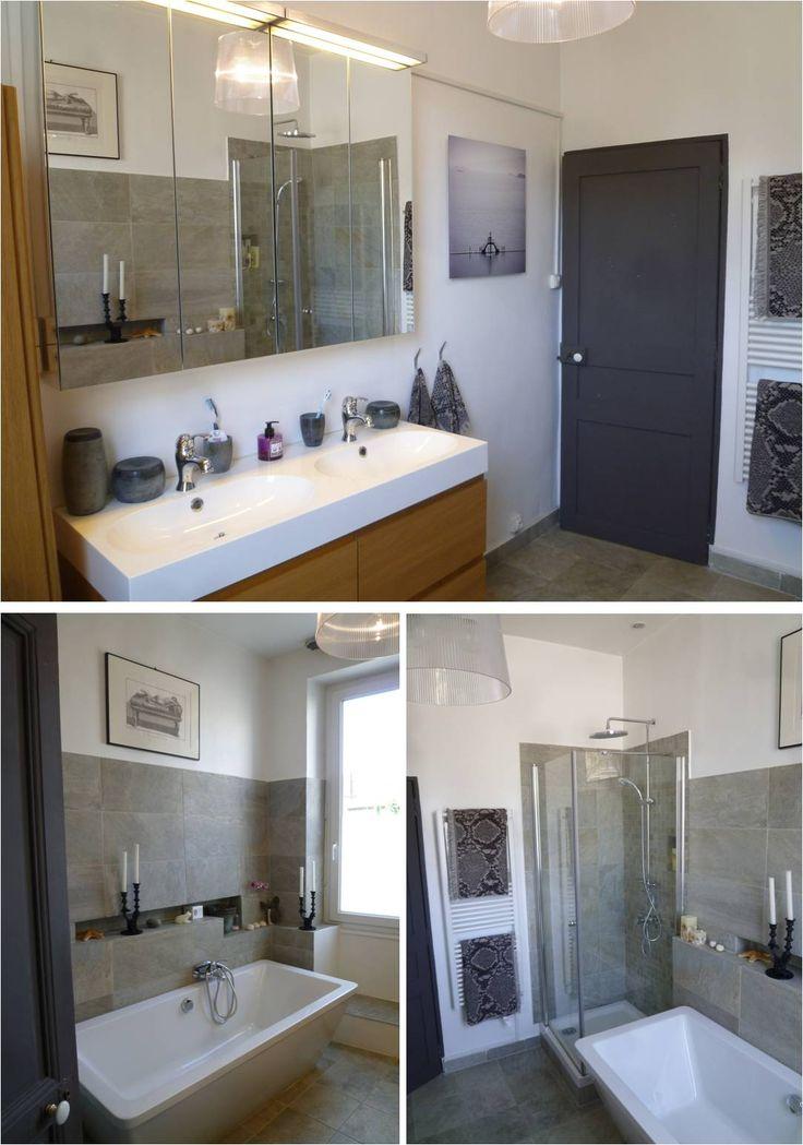25 best salle de bain disposition images on pinterest bathroom for the home and half bathrooms. Black Bedroom Furniture Sets. Home Design Ideas