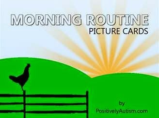 Positively Autism: Picture Schedule for Morning Routine