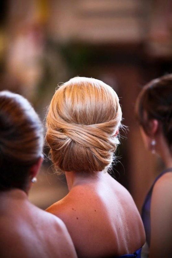 bridesmaid a very chic, yet simple to do, chignon