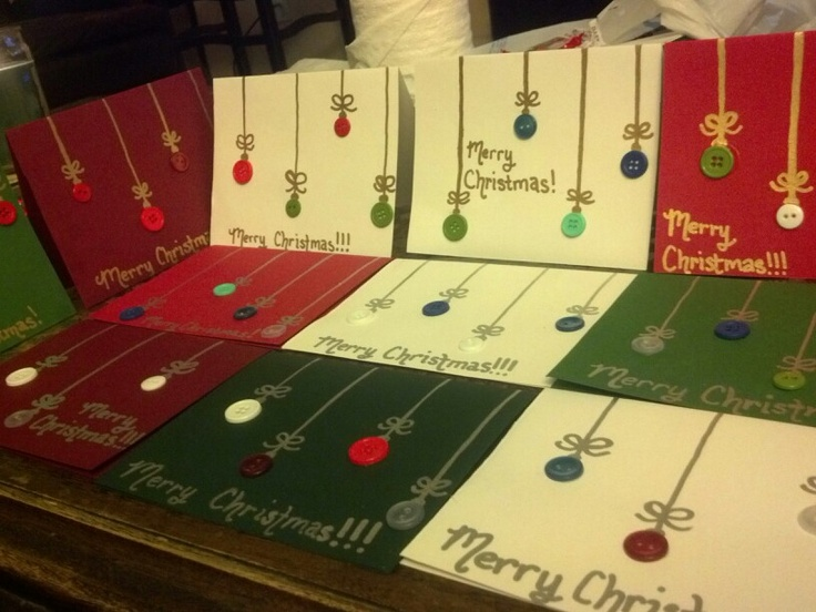 Christmas Cards I Made For The Parents Of Children In My Preschool Class