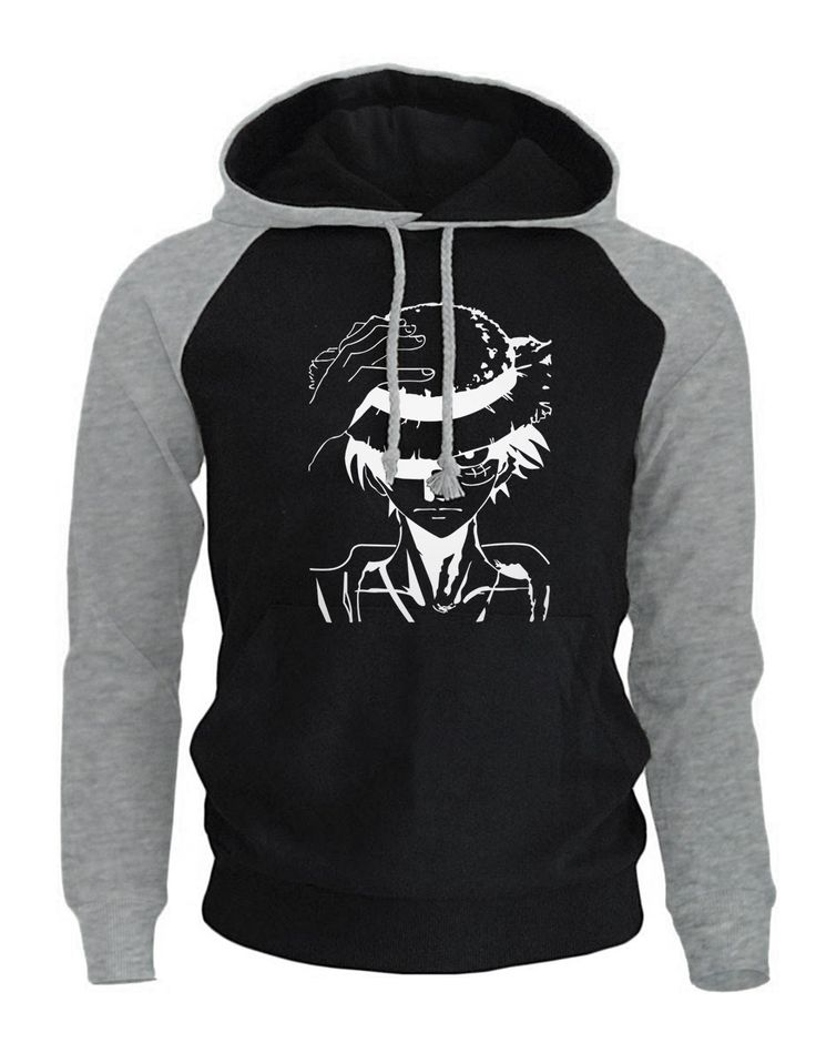One piece anime cartoon print mens hoodie animeart