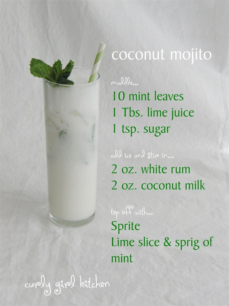 coconut mojito! @Maria Canavello Mrasek Canavello Mrasek GabRieLa now we finally have a good recipe we can follow. Lets make this next dinner party!!!