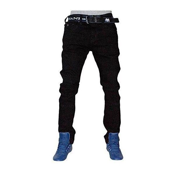 Peviani Mens Skinny Fit Rip G Black Jeans, Urban Star Slim Bar Denim... ($37) ❤ liked on Polyvore featuring men's fashion, men's clothing, men's jeans, mens slim jeans, mens slim cut jeans, mens big star jeans, mens skinny fit jeans and mens ripped jeans