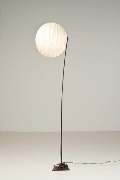 Panayotis Vassilakis Takis and Isamu Noguchi; Unique Metal and Paper Floor Lamp, c1958.