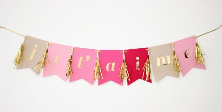 Still loving #wedding bunting, especially when it is this cute!: Valentines, Jeta, Michiemay Paperie, Valentine S, Party Decor, Banners
