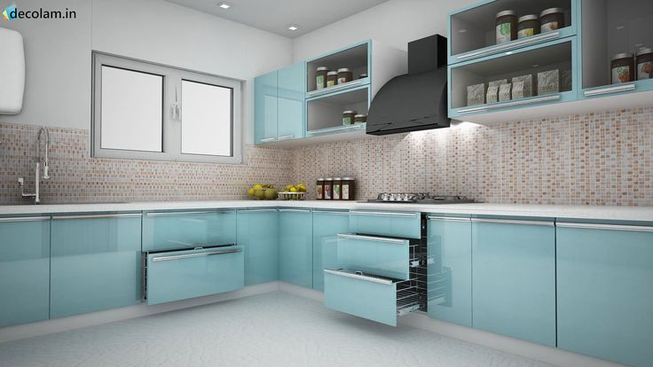 Admirable #LKitchen #Design Ideas To Die For Without Doubt!!! From #HDPlus #PVC #Acrylic #HighGloss #Laminates