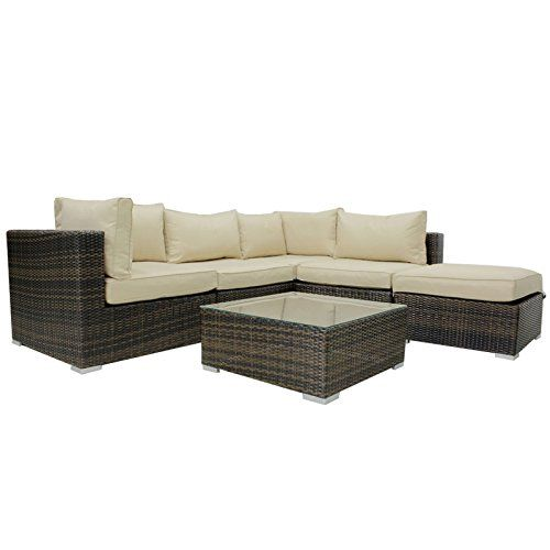 Lovely Rattan London Corner Garden Conservatory Furniture Set