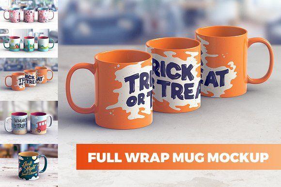 Full wrap mug mockup free