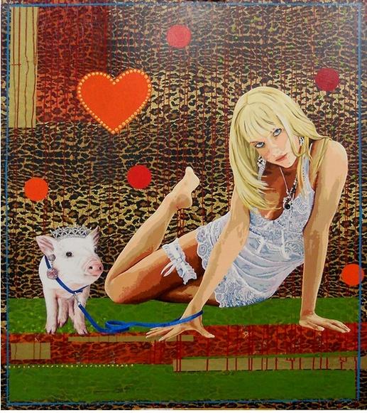 Porca miséria Raquel Gralheiro Acrylics on canvas