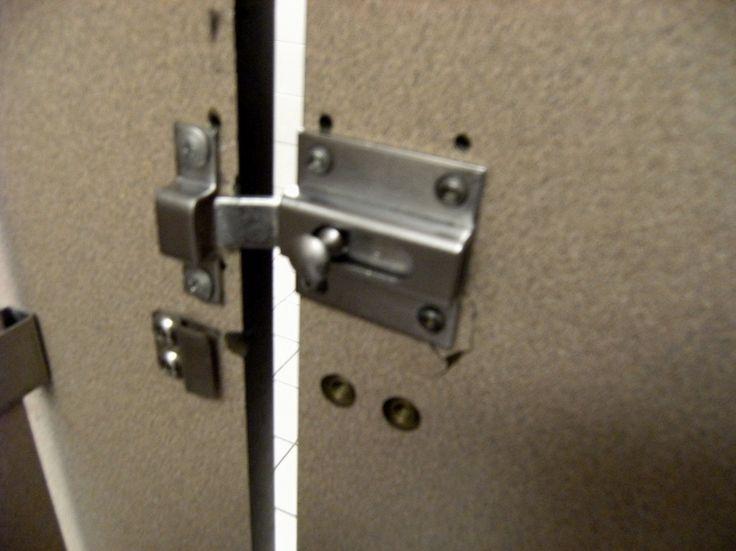 Best 25 bathroom stall ideas on pinterest corner shower - Commercial bathroom stall hardware ...