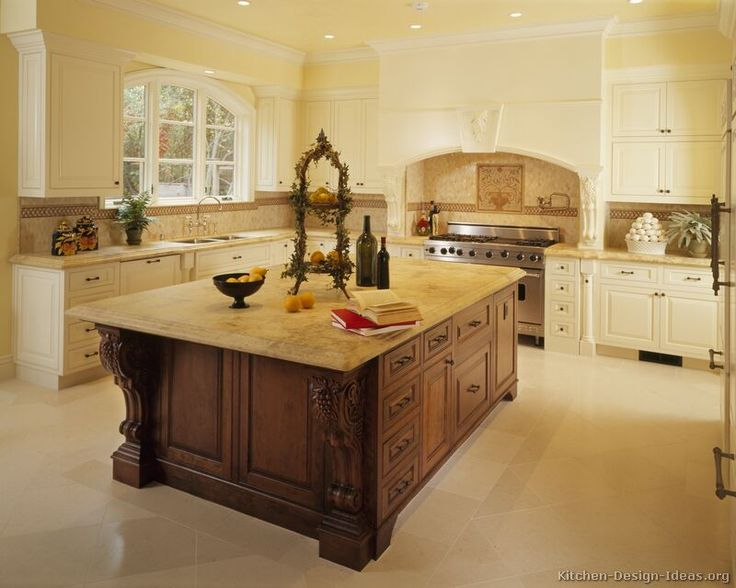 Traditional Two-Tone Kitchen Cabinets #60 (Kitchen-Design-Ideas.org)