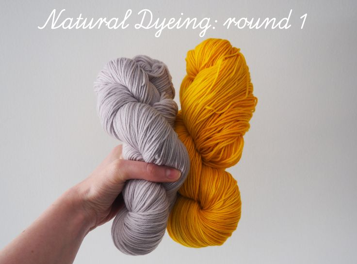 Flossi - natural yarn dyeing using red cabbage and turmeric!