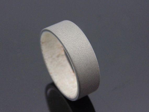 sandblasted antler + titanium