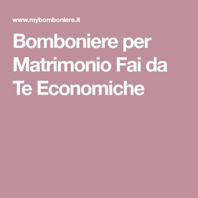 Molto Oltre 25 fantastiche idee su Bomboniere matrimonio fai da te  AO97